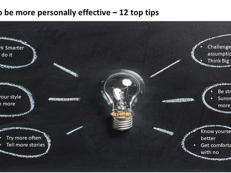 How to be more personally effective