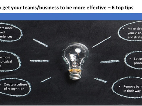 How to get your teams and business more effective