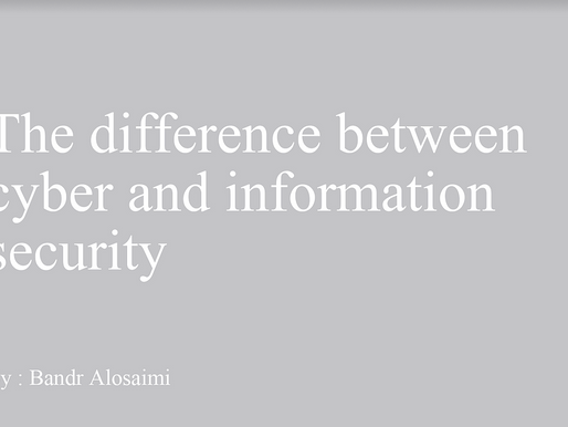 The difference between cyber security and information security