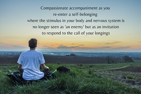 Compassionate accompaniment as you re-en