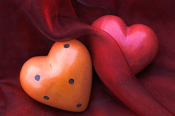 stone-hearts on red cloth.jpg