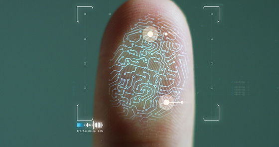 scan fingerprint biometric identity and