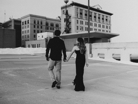 rylee + jake // rooftop engagement