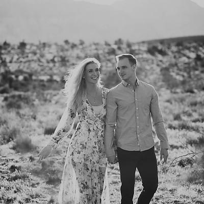 david & chelsey | desert engagement