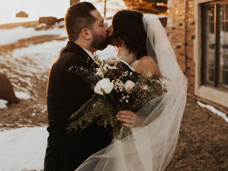 kelsey + jake, detroit winter wedding