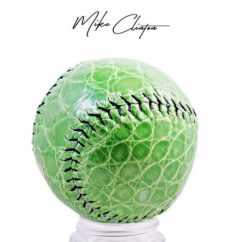 Lime Green Alligator Skin Baseball