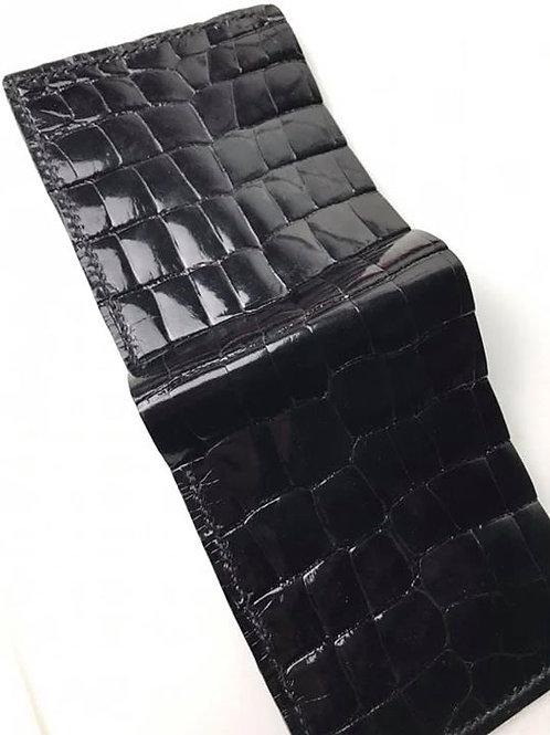 Black Alligator Skin Billfold Wallet