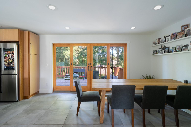 Modern dining room in Redmond, Washington.