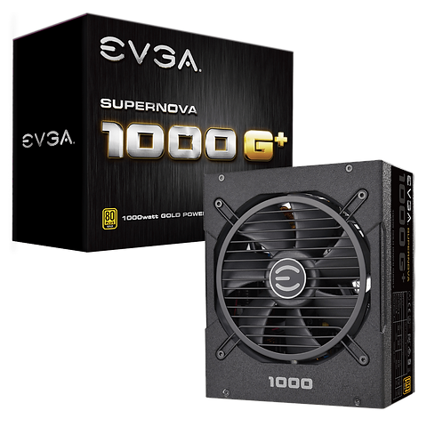EVGA SuperNOVA 1000 G+, 80 Plus Gold 1000W, Fully Modular, FDB Fan