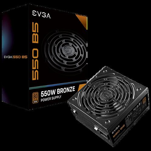 EVGA 550 B5, 80 Plus BRONZE 550W, Fully Modular, EVGA ECO Mode