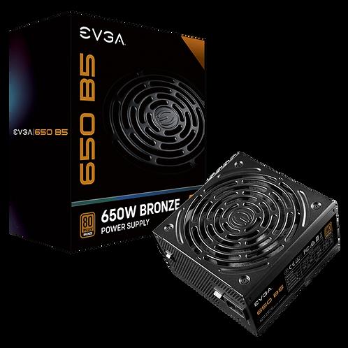 EVGA 650 B5, 80 Plus BRONZE 650W, Fully Modular, EVGA ECO Mode