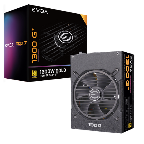 EVGA SuperNOVA 1300 G+, 80+ GOLD 1300W, Fully Modular