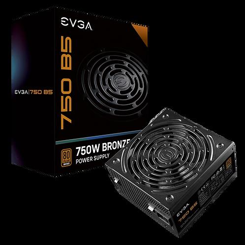 EVGA 750 B5, 80 Plus BRONZE 750W, Fully Modular, EVGA ECO Mode