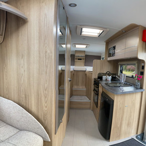 Inside the four berth Motorhome