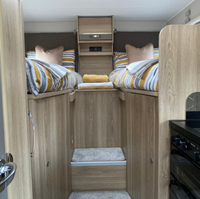 two of the bed in our four berth motorhome