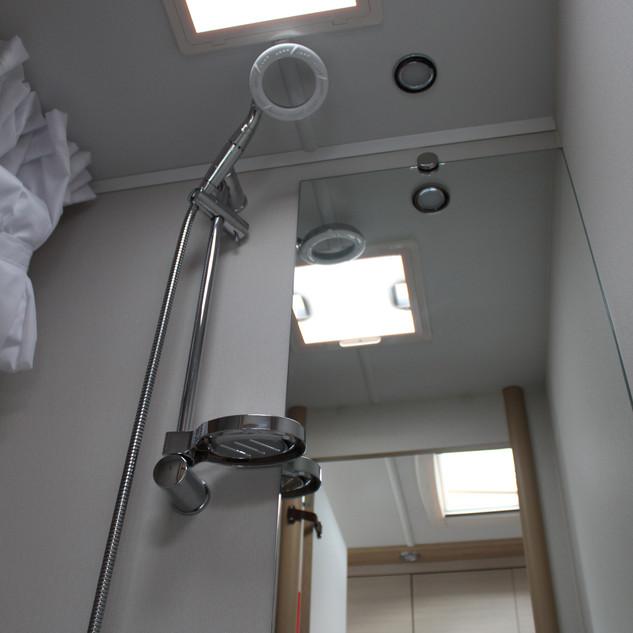 Built in shower