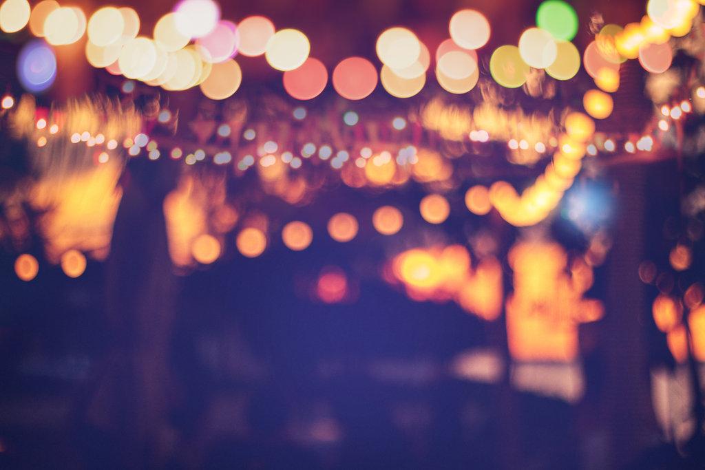 celebration with lights