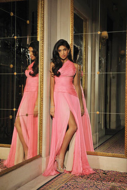 Ashna Mehta Models a J Mendel Dress
