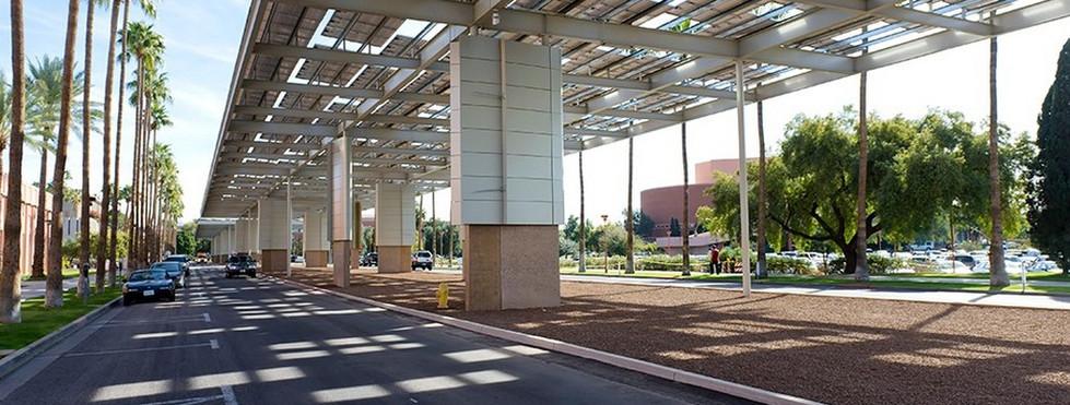 ASU Gammage Parkway - Solar Shade Structure
