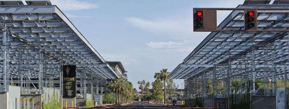 ASU Lot 59 - Solar Shade Pavilion