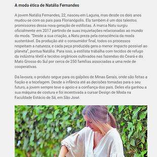 Matéria sobre Somos NATU no jornal ndmais de santa catarina