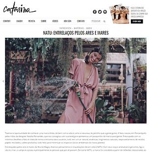 Entrevista com Somos NATU para a revista de moda Catarina