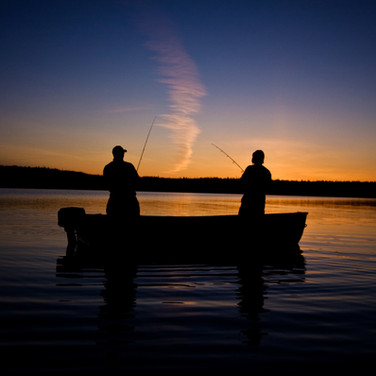 Fishing at Gull Lake