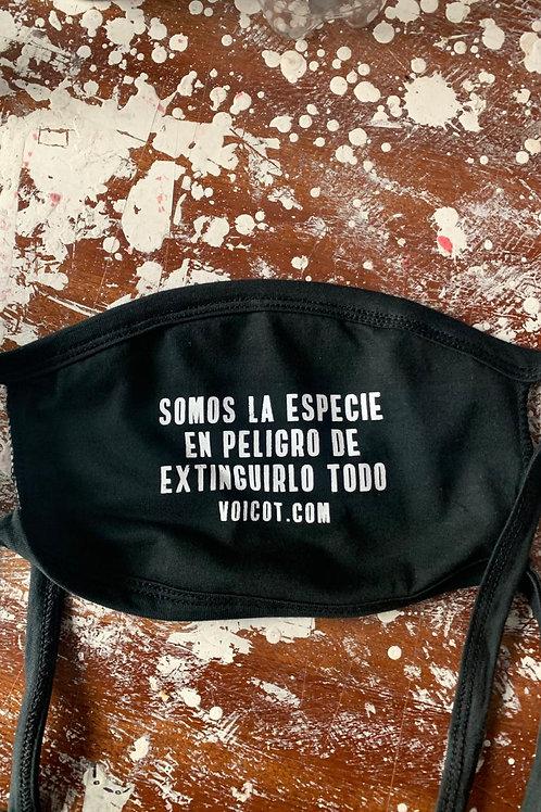 """Tapaboca """"Somos la especie"""" + Afiche"""
