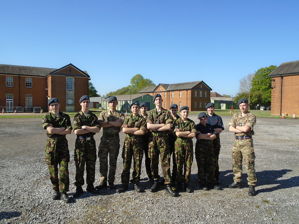 2524 (Oakington) Wing Field Team 2018 with Flight Sergeant Margetts and Corporal De Soissons who ran the Squadron's exercise.