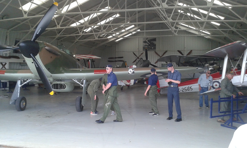 2524 Oakington ATC Returning a Hurricane to its hanger