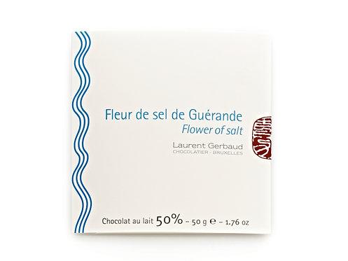 FLOWER OF SALT FROM GUERANDE - MILK CHOCOLATE / 50 G.