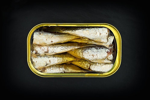 GALICIAN BABY SARDINES IN A OLIVE OIL /  115 G.