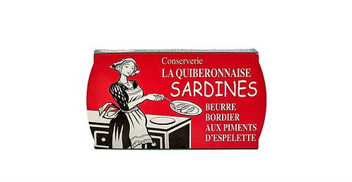 BORDIER ESPELETTE BUTTER SARDINES