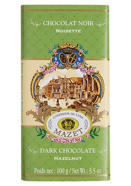 DARK HAZELNUT CHOCOLATE BAR / 100 G.