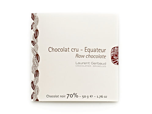 RAW CHOCOLATE - DARK CHOCOLATE / 50 G.