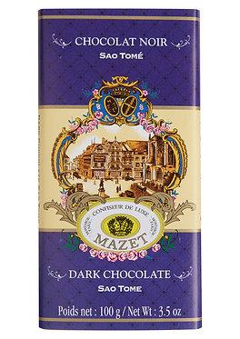 DARK SAO TOME CHOCOLATE BAR / 100 G.