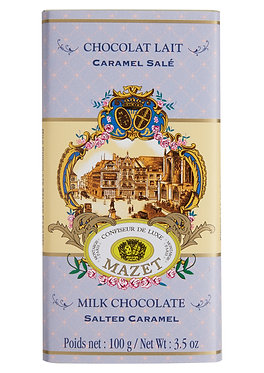 MILK SALTED CARAMEL CHOCOLATE BAR / 100 G.