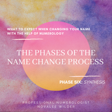The Phases in a Name Change - 6