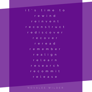It's time to rewind, reinvent, reconstruct, rediscover, recover, reread, remember, realign, relean, research, recommit, release. A guide to Mercury in retrograde by Novalee Wilder