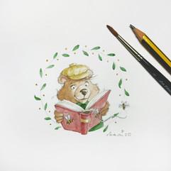 Bär Liest Ein Gutes Buch