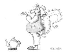 Drachen-Teepott