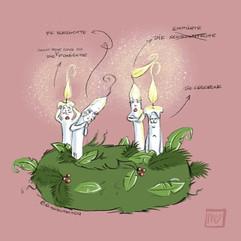 Adventskranz - Kerzen