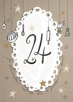 Adventskalender Postkarte 24