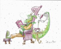 Drachen-Teepause Mit Buch