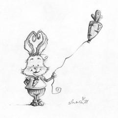 Funny Bunny Mit Möhrenballon