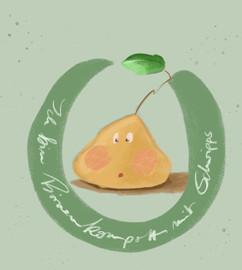 Birnen-Kompott Label