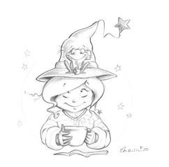 Auch Ein Frosch Trinkt Tee.