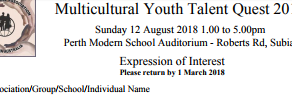 Multicultural Youth Talent Quest