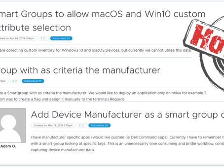 How-To: Create dynamic Smart-Groups in Workspace ONE UEM based on Device Manufacturer / Chassis-Type
