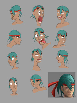 Facial Expressions Color Composition